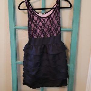 Bebop lacey ruffled mini dress size S